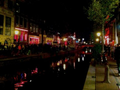 9:50PM: No trip in Amsterdam would be complete without the infamous Red Light District. Highly crowded, the area is known for the women on display like mannequins in storefronts. It was a spectacle to say the least...